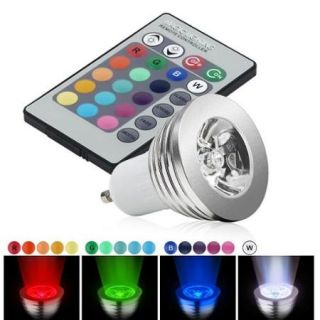 Insten 3W GU10 16 Colors Changing RGB LED Light Bulb With Remote