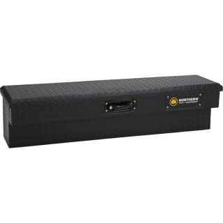 Locking Aluminum Side-Mount Truck Box — 48in. x 11.5in. x 11in., Matte Black  Side Mount Boxes