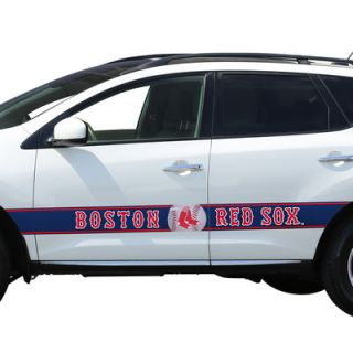 Boston Red Sox Team Ball Racing Stripe Car Decals