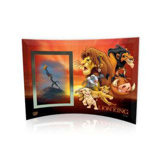 Lion King (Group Collage) Curved Glass Print with Photo Frame by Trend