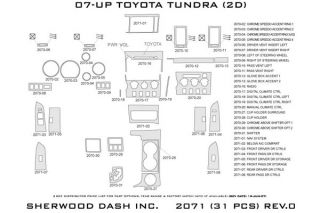 2007 2013 Toyota Tundra Wood Dash Kits   Sherwood Innovations 2071 R   Sherwood Innovations Dash Kits