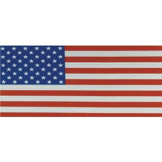 ORALITE American Flag Decal,Reflect,14x7.75   Reflective Tape and Stickers   2HGY3|18377
