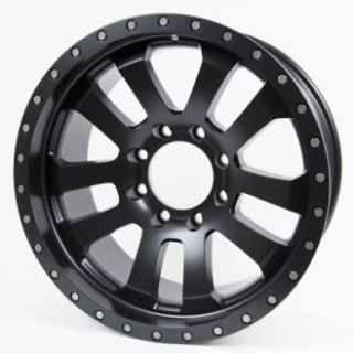 Pro Comp Alloy Wheels   Series 7036, 20X9.5 with 8 on 170 Bolt Pattern   Flat Black