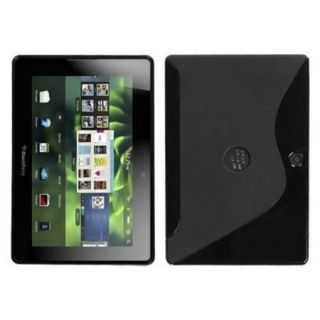 Insten Black S Shape Candy Skin Case For RIM BLACKBERRY Playbook
