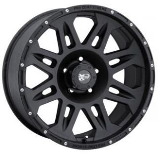 Pro Comp Alloy Wheels   Series 7005, 17x9 with 6 on 5.5 Bolt Pattern   Flat Black