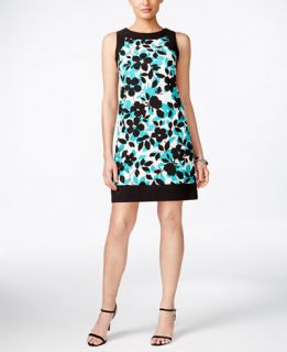 Jessica Howard Sleeveless Printed Sheath Dress   Dresses   Women