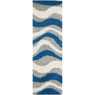 Safavieh Art Shag Blue/ Grey Rug (23 x 9)   16768082