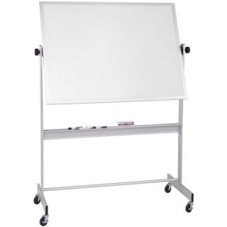 Thermal Fused Dot Grid Free Standing Reversible Whiteboard, 3 x 3