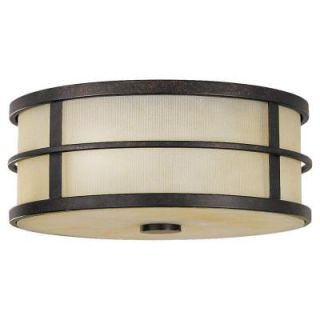 Feiss Fusion 2 Light Grecian Bronze Indoor Flushmount FM256GBZ