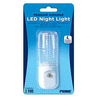 Prime Wire & Cable, Inc 1 Pack Automatic LED Night Light White LED