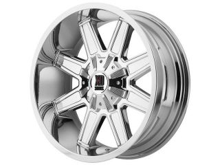 XD Series XD823 Trap 20x12 8x180  44mm PVD Chrome Wheel Rim