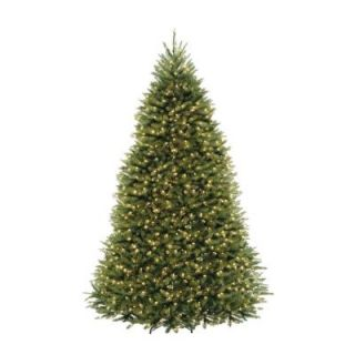 9 ft. Pre Lit Dunhill Fir Hinged Artificial Christmas Tree with Clear Lights DUH 90LO