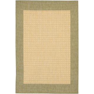 Couristan Recife Checkered Field Natural Indoor/Outdoor Area Rug