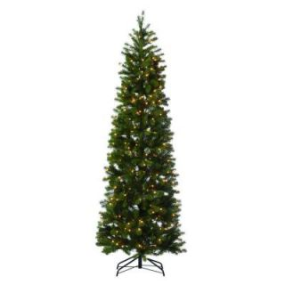 Martha Stewart Living 7 ft. Indoor Pre Lit LED Downswept Douglas Fir Slim Artificial Christmas Tree 9315500610