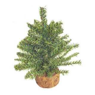 Green Artificial Mixed Pine Miniature Christmas Tree