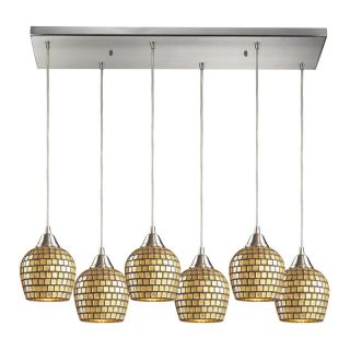 Elk Lighting 528 6RC GLD Gold Leaf Pendant Light