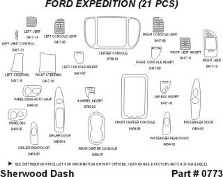 1999 Ford Expedition Wood Dash Kits   Sherwood Innovations 0773 N50   Sherwood Innovations Dash Kits