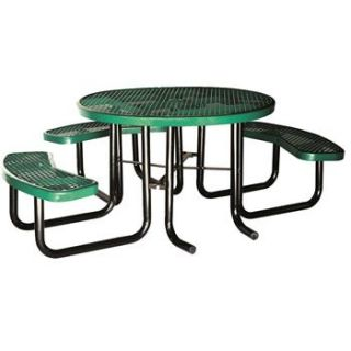 Thermoplastic ADA Round Expanded metal Picnic Table