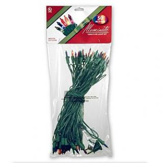 National Tree Company 50 Bulb Light String Set, Multicolor   Seasonal