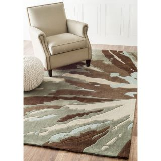 nuLOOM Handmade Norwegian Radiance Brown Rug (76 x 96)