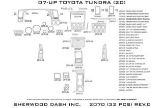 2007 2013 Toyota Tundra Wood Dash Kits   Sherwood Innovations 2070 R   Sherwood Innovations Dash Kits