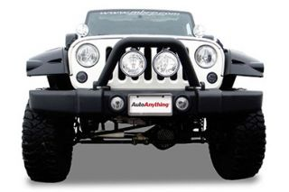 2012 2016 Jeep Wrangler Light Mounts & Wiring   MBRP 130716LX/132032   MBRP Front Light Bar & Grille Guard