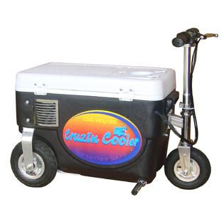 Cruzin Cooler Cooler Scooter 300w Black   Fitness & Sports   Wheeled