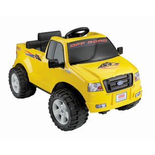 Power Wheels Lil F150 Yellow Pick Up   Toys & Games   Ride On Toys