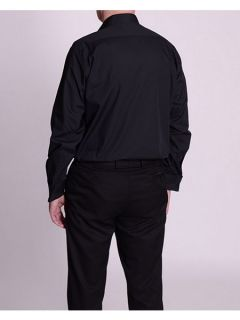 Double TWO Stitch pleat dress shirt Black