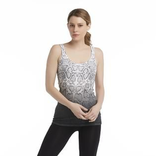 Route 66 Womens Rib Knit Tank Top   Snakeskin Print   Clothing, Shoes