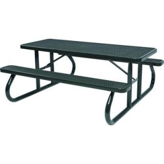 Tradewinds Park 6 ft. Black Commercial Picnic Table HD D601GS BK