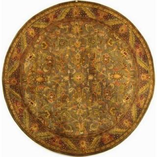 Safavieh Antiquity Blue/Gold 8 ft. Round Area Rug AT52C 8R