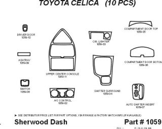 2000 2004 Toyota Celica Wood Dash Kits   Sherwood Innovations 1059 N50   Sherwood Innovations Dash Kits