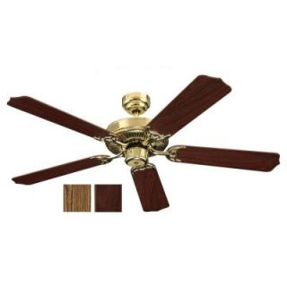 Sea Gull Lighting Quality Max 52 in. Polished Brass Indoor Ceiling Fan 15030 02