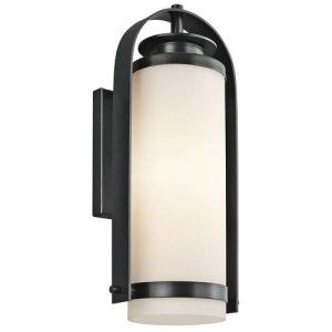 Kichler 49315BK Outdoor Light, Transitional Wall Lantern 1 Light Fixture   Black (Painted)
