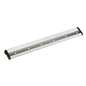 "Kichler 12315NI27 LED Under Cabinet Light, 18"" Design Pro 24V Strip   2700K   Brushed Nickel"