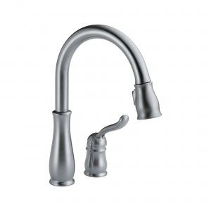 Delta 978 AR DST Kitchen Faucet, Leland Single Handle Pull Out   Arctic Stainless