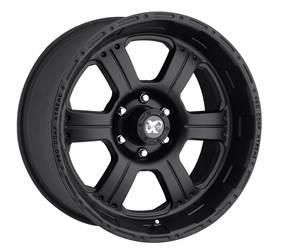 Pro Comp Alloy Wheels   Series 7089, 16x8 with 6 on 5.5 Bolt Pattern   Flat Black