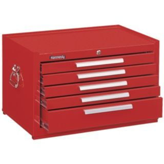 "KENNEDY Red Top Chest, 29"" Width x 20""  Depth x 16 5/8"" Height, Number of Drawers: 5   Tool Chests and Side Cabinets   33M643