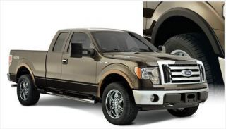 Bushwacker   Bushwacker Front and Rear Street Style Fender Flares (Black) 20925 02   Fits 2009 to 2013 Ford F 150 (Please check fitment)