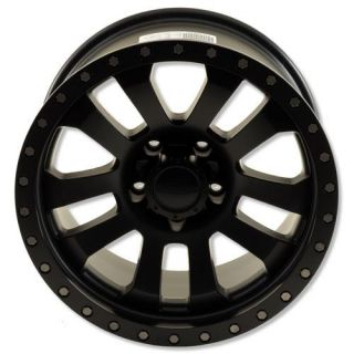 Pro Comp Alloy Wheels   Series 7036, 18x9 with 5 on 5 Bolt Pattern   Flat Black