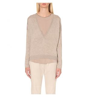 BRUNELLO CUCINELLI   Cashmere and silk blend jumper