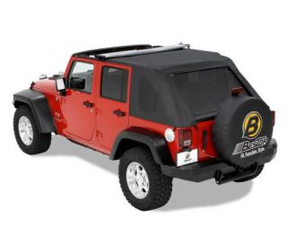 Bestop   Bestop Trektop Soft Top (Black Diamond) Replacement Top, 56805 35   Fits 2007 to 2016 Wrangler Unlimited and Rubicon Unlimited