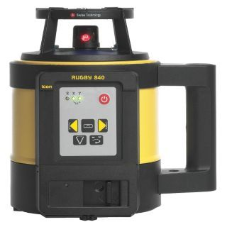 LEICA RUGBY Electronic Self Leveling Rotary Laser Level, Horizontal and Vertical, Interior and Exterior   Rotary and Straight Line Laser Levels   49U540|840