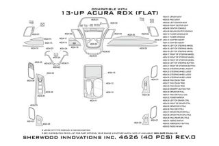 2013 Acura RDX Wood Dash Kits   Sherwood Innovations 4626 AJ   Sherwood Innovations Dash Kits