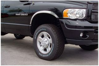 2010 Ford F 450/550 Without fender flares, with dual rear wheels Putco Stainless Steel Fender Trim