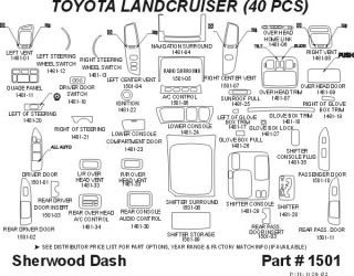 2003 2006 Toyota Land Cruiser Wood Dash Kits   Sherwood Innovations 1501 N50   Sherwood Innovations Dash Kits