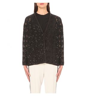 BRUNELLO CUCINELLI   Sequinned cashmere blend cardigan