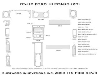 2005 2009 Ford Mustang Wood Dash Kits   Sherwood Innovations 2023 N50   Sherwood Innovations Dash Kits