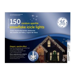 GE 150 Count Clear Mini Christmas Icicle Lights